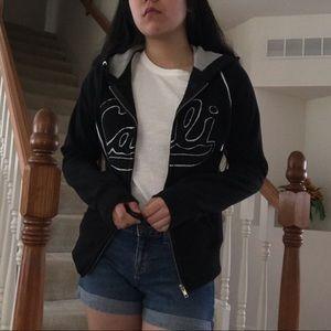 "Black jacket w/ ""Cali"""